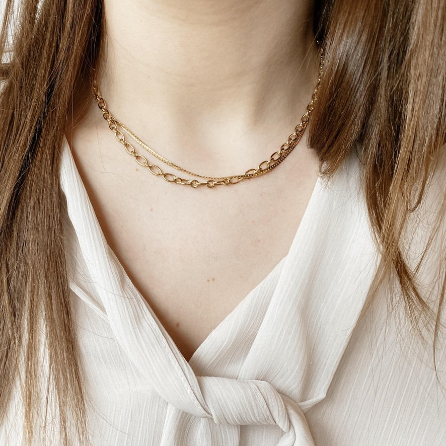 Noelle Halskette Gold