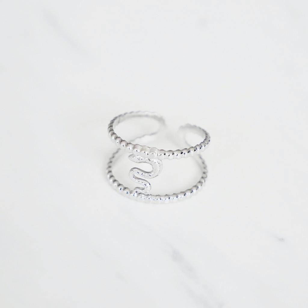 Snake Ring Silber