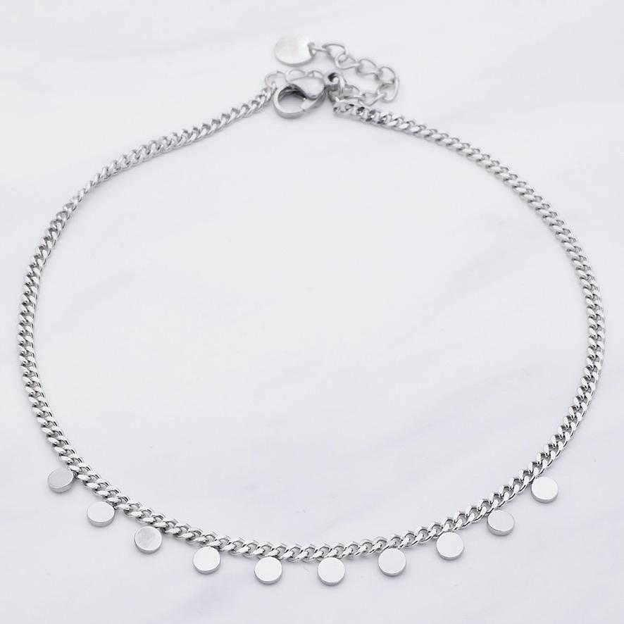 Skye Fußkette Silber