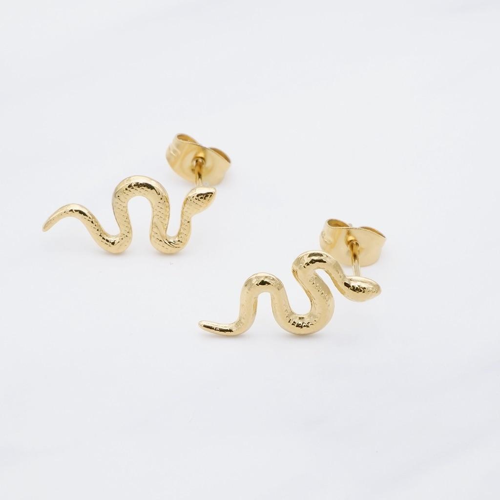 Snake Ohrring Gold