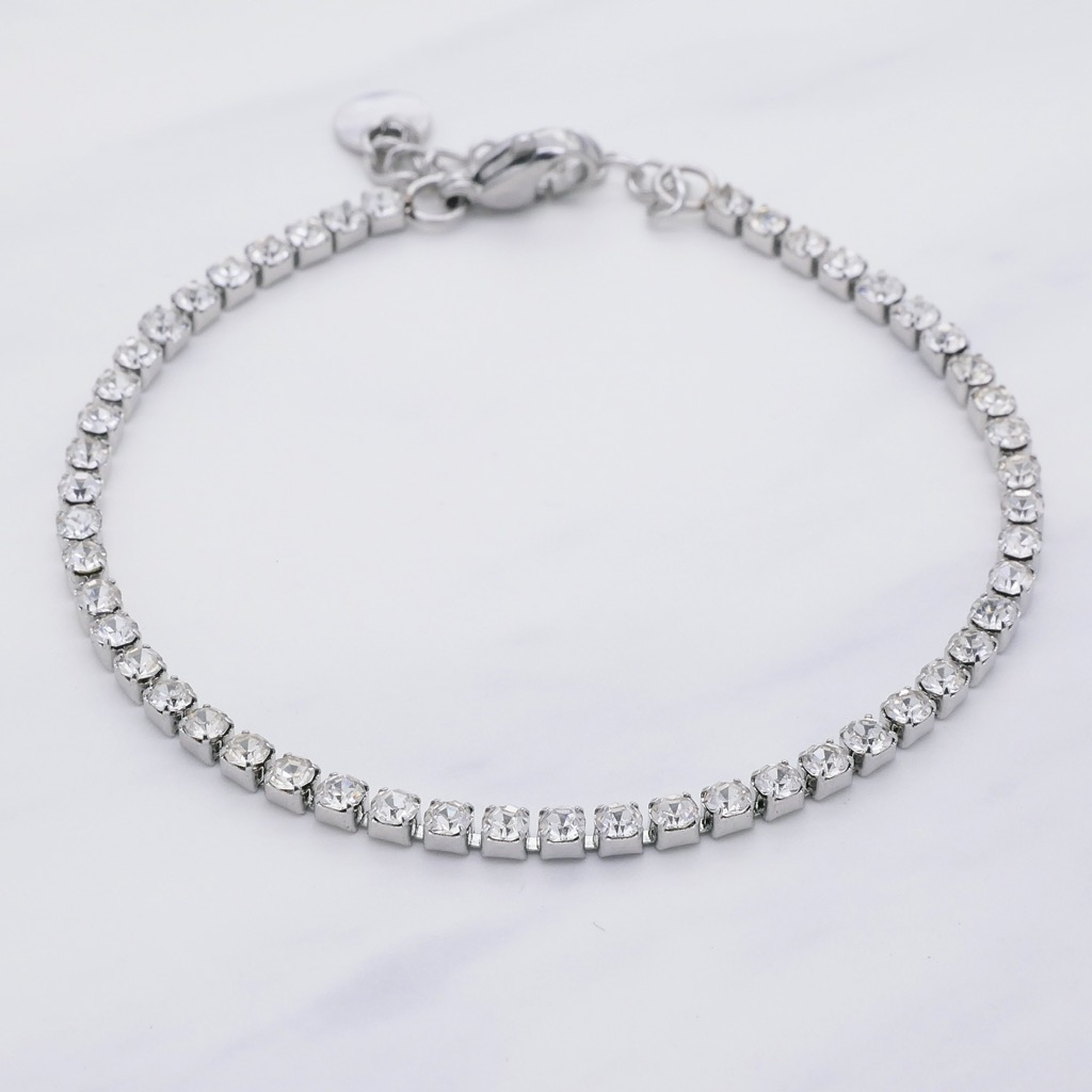 Tennis Armband Silber