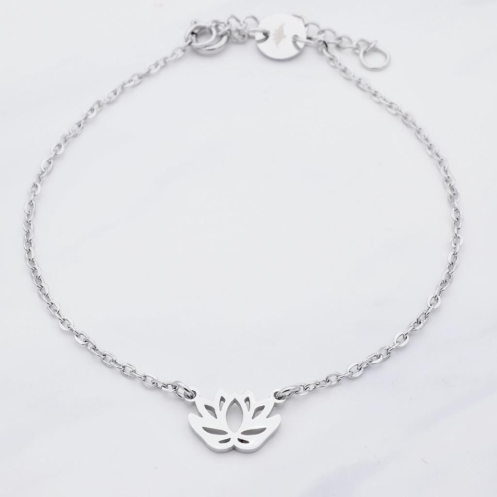 Lotus Armband Silber